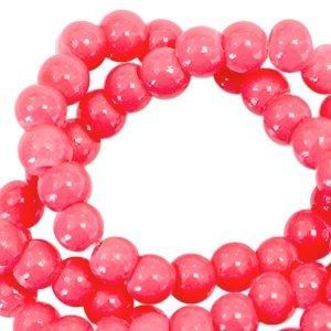 Roze Opaque glaskraal rond Rouge red 3mm - 125 stuks