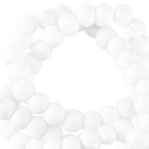 Wit Opaque glaskraal rond White 3mm - 125 stuks