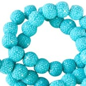 Blauw Sparkling beads Lagoon blue 8mm - 10 stuks