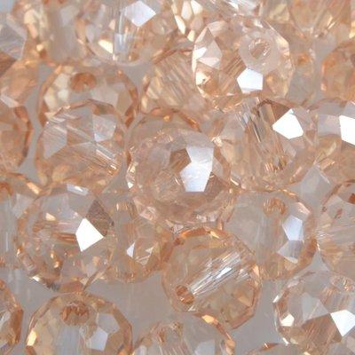 Bruin Facet rondel golden shine 6x4mm - 45 stuks