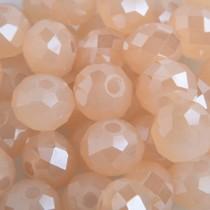 Oranje Facet rondel peach opal shine 6x4mm - 45 stuks