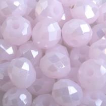 Roze Facet rondel baby roze AB 6x4mm - 45 stuks