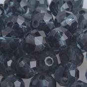 Blauw Facet rondel montana grijs blauw 6x4mm - 45 stuks