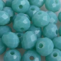 Turquoise Facet rondel turquoise groen opaal 6x4mm - 45 stuks