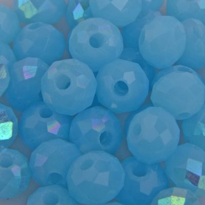 Blauw Facet rondel licht aqua AB 6x4mm - 45 stuks