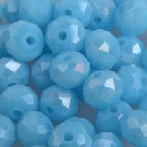 Blauw Facet rondel aqua AB 6x4mm - 45 stuks