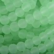 Groen Glaskralen rond mat groen 6mm - 50 stuks