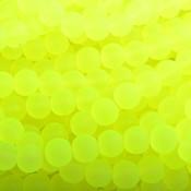 Geel Glaskralen rond mat fel geel 6mm - 50 stuks