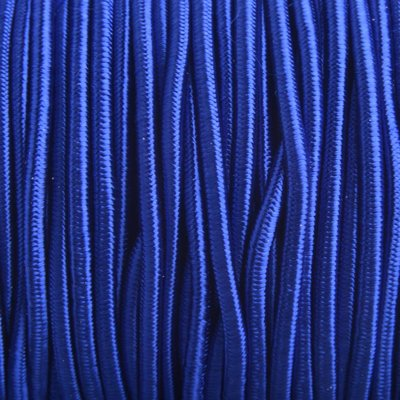 Blauw Elastiek hollands blauw DQ 2mm - 1m