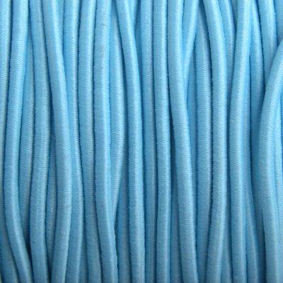 Blauw Elastiek licht aqua 2mm - 1m