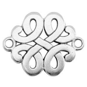 Zilver Tussenzetsel barok Zilver DQ 17x13mm