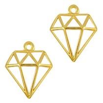 Goud Bedel diamant Goud DQ 18x16mm