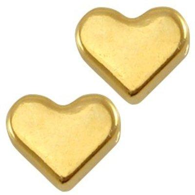 Goud Kraal hart Goud DQ 6mm