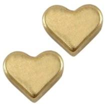 Antiek Goud Brons Kraal hart Brons DQ 6mm