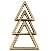 Antiek Goud Brons Bedel triangel Brons DQ 45x26mm