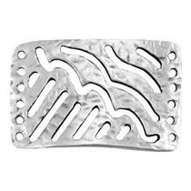 Zilver Tussenzetsel 6 gaatjes Zilver DQ 30x20mm