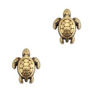 Antiek Goud Brons Kraal schildpad Brons DQ 9x7mm