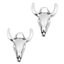 Zilver Bedel buffelkop schedel Zilver DQ 17x15mm
