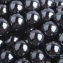Zwart Halfedelsteen Hematiet rond antraciet 8mm - 6 stuks