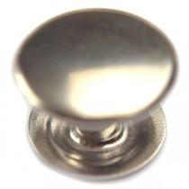 Zilver Inslagstud glad voor leer zilver 11mm