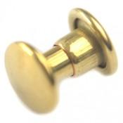 Goud Inslagstuds glad metaal goud 11mm