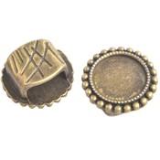 Antiek Goud Brons Leerschuiver Ø10x5mm voor 12mm cabochon Brons