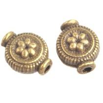Antiek Goud Brons Kraal boho bloemetje Brons 10x8mm - 5 stuks