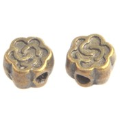 Antiek Goud Brons Kraal bloemetje Brons 5x3mm - 10 stuks