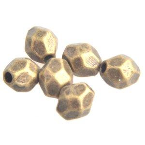 Antiek Goud Brons Kraal facet Brons 4mm - 10 stuks
