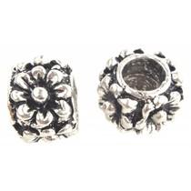 Zilver Kraal bloemen Ø4.5mm Zilver 11x7mm