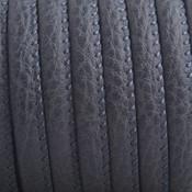 Grijs Imitatie leer Dark graphite grey 6x4mm - prijs per 20cm