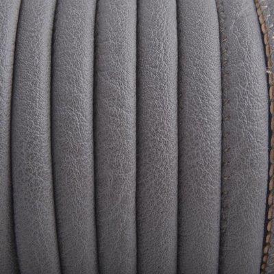 Grijs Imitatie leer Shale grey 6x4mm - prijs per 20cm
