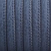 Blauw Imitatie leer Dark blue 6x4mm - prijs per 20cm