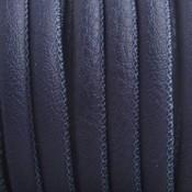 Blauw Imitatie leer Dark midnight blue 6x4mm - prijs per 20cm