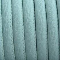 Turquoise Imitatie leer Pastel mint green 6x4mm - prijs per 20cm
