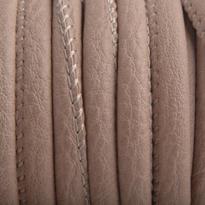 Bruin Imitatie leer Cream light brown 6x4mm - prijs per 20cm