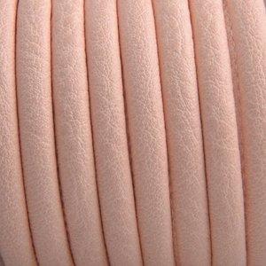 Oranje Imitatie leer Light peach orange 6x4mm - prijs per 20cm
