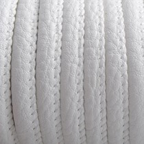 Wit Imitatie leer White 6x4mm - prijs per 20cm