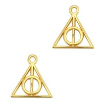 Goud Bedel 'Deathly Hallows' Goud DQ 13mm