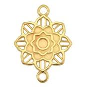 Goud Tussenzetsel Mandala bloem Goud DQ 27x20mm