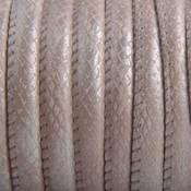 Bruin Imitatie leer Reptile nude grey metallic 6x4mm - prijs per 20cm