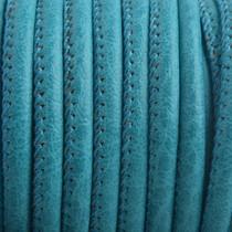 Turquoise Imitatie leer Pacific turquoise green 4x3mm - prijs per 20cm