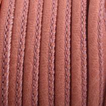Oranje Imitatie leer Dark coral pink 4x3mm - prijs per 20cm