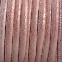 Roze Imitatie leer Reptile vintage roze metallic 4x3mm - prijs per 20cm