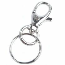 Zilver Sleutelhanger met ring Zilver 60x25mm