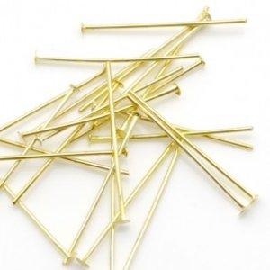 Goud Nietstiften goud 50mm - 50 stuks