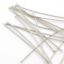 Zilver Nietstiften licht zilver 50mm - 50 stuks