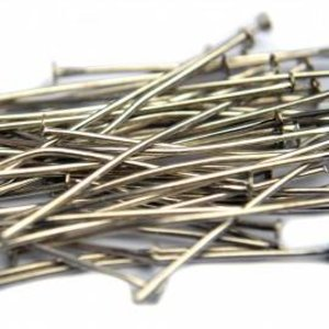 Zilver Nietstiften zilver 70mm - 30 stuks