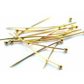 Goud Nietstiften bolletje goud 20mm - 20 stuks