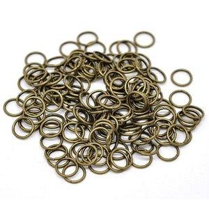 Antiek Goud Brons Ringetjes Brons 6x0,7mm ±110 stuks